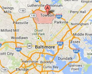 map of towson maryland 24 Hour Emergency Dentist Towson Evenings And Weekends map of towson maryland